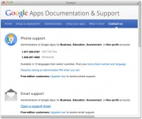 Contact Google Apps